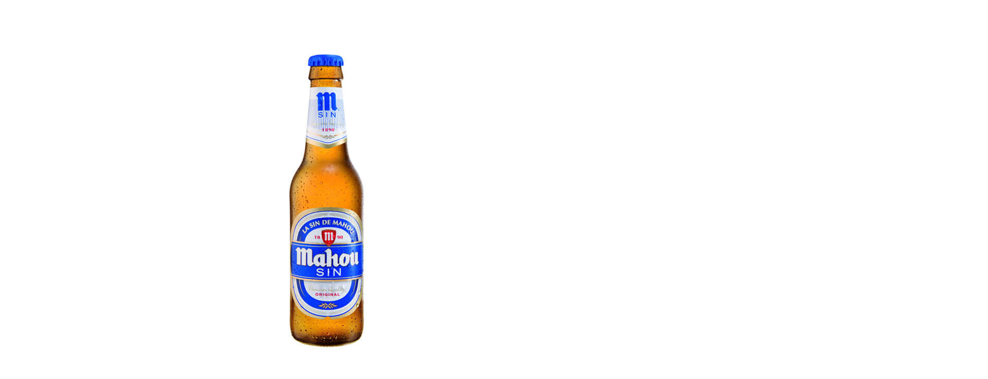 MAHOU ALCOHOL-FREE BEER, GLASS